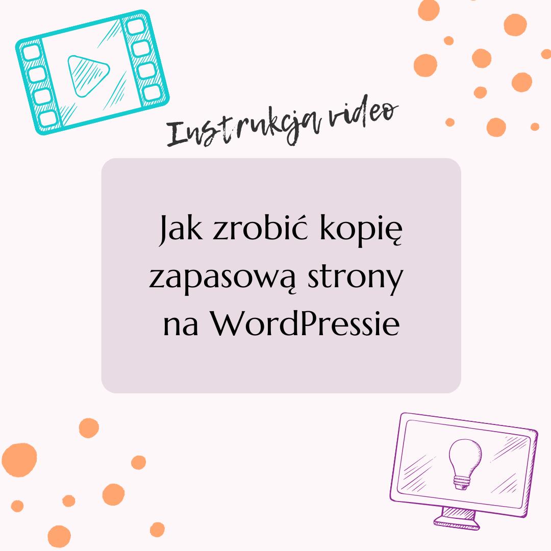 Jak zrobić kopię zapasową strony naWordPressie